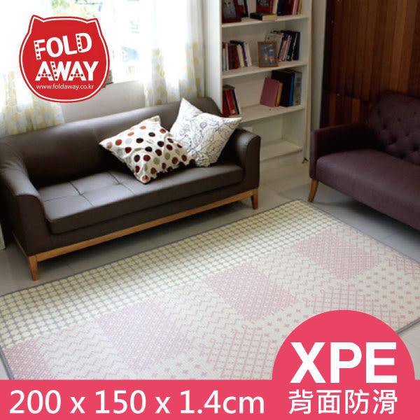 韓國 FOLDAWAY PE遊戲爬行地墊(小)玫瑰線條(200x150x1.4cm)~麗兒采家