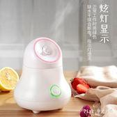 家用熱噴蒸臉儀 果蔬蒸臉器 小型噴霧器臉部加濕器  nm3301 【Pink中大尺碼】