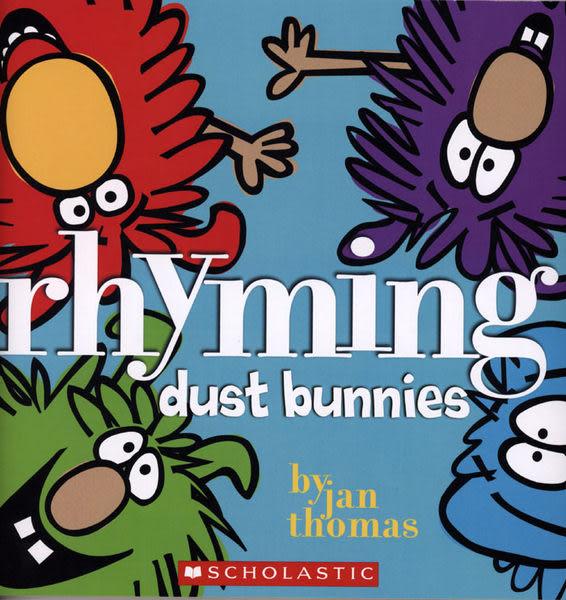 【麥克書店】RHYMING DUST BUNNIES /英文繪本《主題: 自然發音.幽默》作者:Jan Thomas