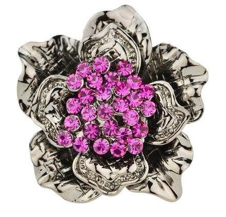 時尚潮人龐克紫羅蘭指環
