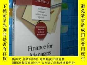 二手書博民逛書店Finance罕見for Managers:your mento