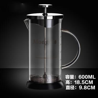 咖啡壺家用 法壓壺耐熱加厚玻璃咖啡茶葉花茶沖泡器美式煮過濾杯