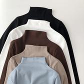 半高領打底小衫女士秋冬內搭長袖2019新款韓版學生上衣服百搭t恤