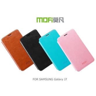 MOFI SAMSUNG Galaxy J7 睿系列 側翻皮套 可站立 皮革皮套 保護套 手機套