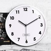 靜音掛鐘客廳鐘表時鐘簡約石英鐘表墻鐘歐式創意復古掛鐘PH195【彩虹之家】
