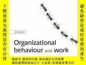 二手書博民逛書店Organizational罕見Behaviour and Work Fiona Wilson 978019953