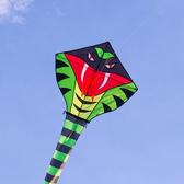 15公尺霸王眼鏡蛇造型長尾風箏(全配/附150米輪盤線)【888便利購】
