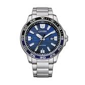 【Citizen星辰】GENT'S光動能海洋波紋型時尚腕錶-海洋藍/AW1525-81L/台灣總代理公司貨享兩年保固