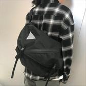特賣韓國新款春季街頭休閒原宿大容量潮牌斜背包機能包側背包