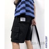 @港仔文藝男 夏季新款港風口袋工裝短褲男韓版寬鬆五分休閒褲 夏季新品