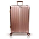 【YC Eason】星光二代25吋海關鎖款PC硬殼行李箱-玫瑰金
