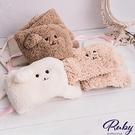 圍巾 小熊造型絨毛保暖圍巾-Ruby s 露比午茶