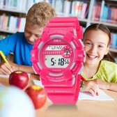 兒童手錶女孩男孩防水夜光小學生韓版簡約時尚鬧鐘電子手錶