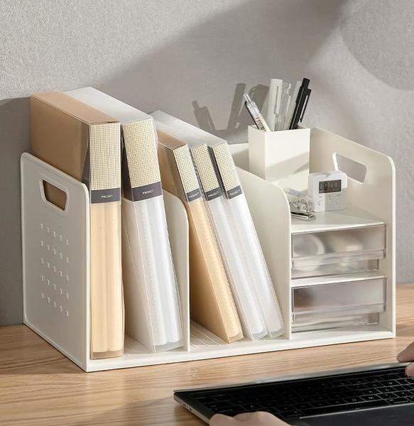 文件架 收納架 辦公室收納桌面書架文件收納盒工位書桌置物架辦公桌整理好物神器