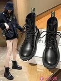 馬丁靴 馬丁靴女2021年新款英倫風網紅瘦瘦加絨短靴秋冬季百搭雪地靴棉鞋 小天使