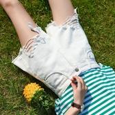 短褲 不規則牛仔短褲女高腰夏2020新款韓版顯瘦a字黑色流蘇闊腿熱褲潮 小宅女
