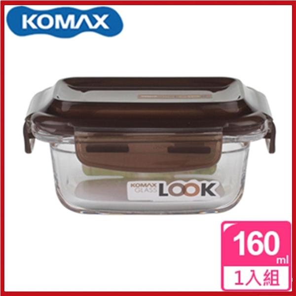 <特價出清>韓國 KOMAX 巧克力長形強化玻璃保鮮盒160ml 59073【AE02248】99愛買小舖