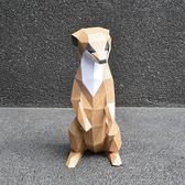 正版匠紙_DIY材料包_手作_3D紙模型_禮物_卡哇咿小狐獴擺飾