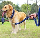 寵物牽引繩 防咬狗鍊子鐵鍊中型大型犬狗狗牽引繩金毛拉布拉多遛狗繩項圈p鍊 歐萊爾藝術館