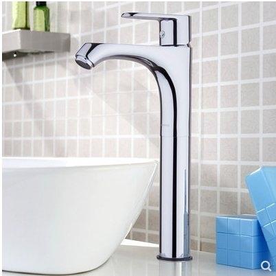 衛浴臺盆龍頭 單把單孔高管冷熱水面盆龍頭32154-129
