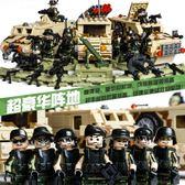 積木5軍事系列兒童益智8玩具男孩子10人仔6-12歲汽車 【好康八八折】