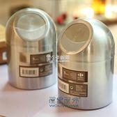 桌面垃圾桶 創意小430不銹鋼垃圾桶帶蓋雜物桶時尚帶蓋煙灰缸禮物 卡菲婭