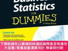 二手書博民逛書店預訂Business罕見Statistics For DummiesY492923 Alan Anderson