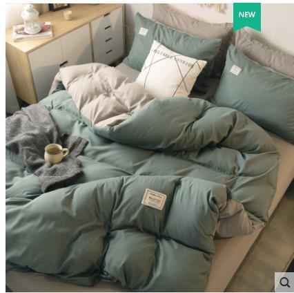 被套 北極絨北歐風四件套水洗棉款床單學生宿舍三件套床上用品 免運費
