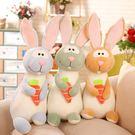毛絨玩具 - 可愛兔子毛絨玩具公仔睡覺抱...