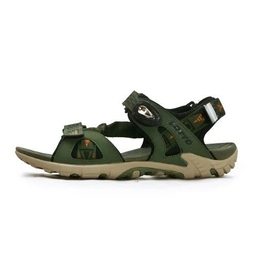 LIKA夢 LOTTO 專業多功能排水磁扣戶外運動涼鞋 涼夏瘋玩系列 軍綠棕 0195 男