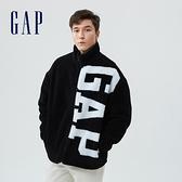 Gap男女同款 Logo仿羊羔絨外套 735030-黑色