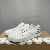 NATIVE JEFFERSON 男女款白綠色休閒洞洞鞋-NO.11100102-8490