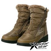 【PolarStar】PolarStar 女保暖雪鞋『棕』P17630 (冰爪 / 內厚鋪毛 /防滑鞋底) 雪地靴.雪鞋.賞雪