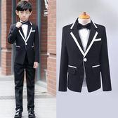 兒童西裝禮服男套裝花童禮服男童裝西裝男童小西服修身韓版