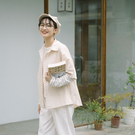 Queen Shop【01024346】單口袋設計五分袖排釦襯衫 兩色售*現+預*