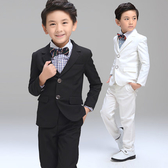 男童小西裝寶寶花童套裝禮服表演喜宴音樂會西服西裝四件套