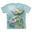 【摩達客】(預購)美國進口The Mountain 海龜游泳 純棉環保短袖T恤(10416045077a)