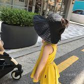 媽嬰童裝嬰兒帽子夏季薄款 女寶寶漁夫帽空頂兒童太陽防曬帽 【快速出貨八五折鉅惠】