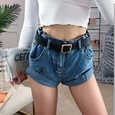 牛仔捲邊短褲熱褲    ♥ onetwo♥