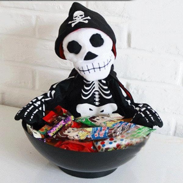 光控燈光音樂骷髏糖果盒骷髏糖果盆 光控裝置活動 萬聖節佈置鬼屋佈置恐怖骷髏頭