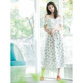 [H2O]蕾絲剪接印花布假兩件式可兩穿洋裝 - 白底花色/粉底花色 #8674008 春夏↘7折