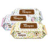 韓國JJ 濕紙巾100抽 (含蓋)隨機出貨  ☆巴黎草莓☆