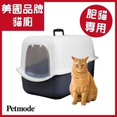 湯姆大貓 現貨『HC018』美國Petmode 胖貓專用貓廁所(附貓鏟) 礦物沙 貓便盆 貓砂盆 貓跳台