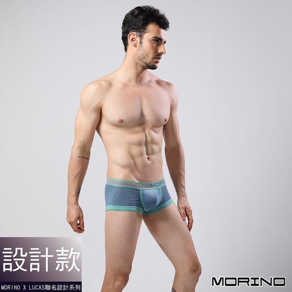 【MORINO】經典緹運動花平口褲 藍色