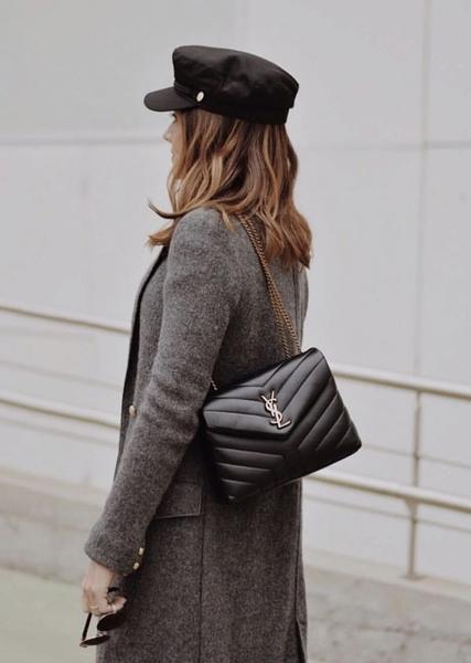 ■專櫃77折■全新真品■Saint Laurent Paris YSL 494699 小款Lou Lou 羊皮2用包 銀色Logo 黑色
