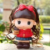時尚創意大號女娃娃卡通存錢筒 可愛長發女孩儲蓄罐 防摔生日禮品    西城故事