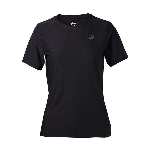 【ASICS 亞瑟士】 女 短袖T恤 LITE-SHOW 反光 運動短T -142607-0904 黑 [陽光樂活]