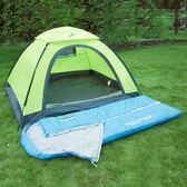 睡袋成人戶外室內冬季加厚保暖露營旅行雙人隔臟棉睡袋【快速出貨八五折優惠】