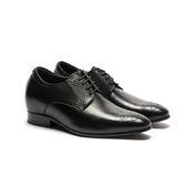 Waltz-菱紋拼接內增高紳士德比鞋 213004-02黑