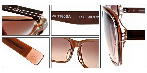 【金橘眼鏡】Calvin Klein太陽眼鏡# CK1180S 163 咖啡 (免運)